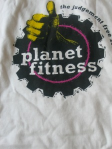 I got this free t-shirt for joining Planet Fitness
